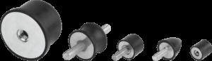 KIPP Rubber Buffers Anti-vibration Mounts