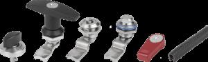 KIPP Quarter-turn locks, compression latches